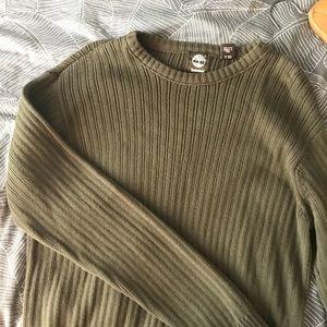 Timberland Olive Ribbed Crewneck Sweater